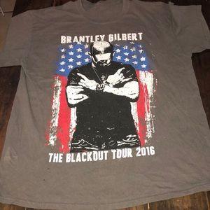 Brantley Gilbert 2016 concert tee tshirt large